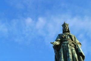 Statue on the Charles Bridge, Prague.