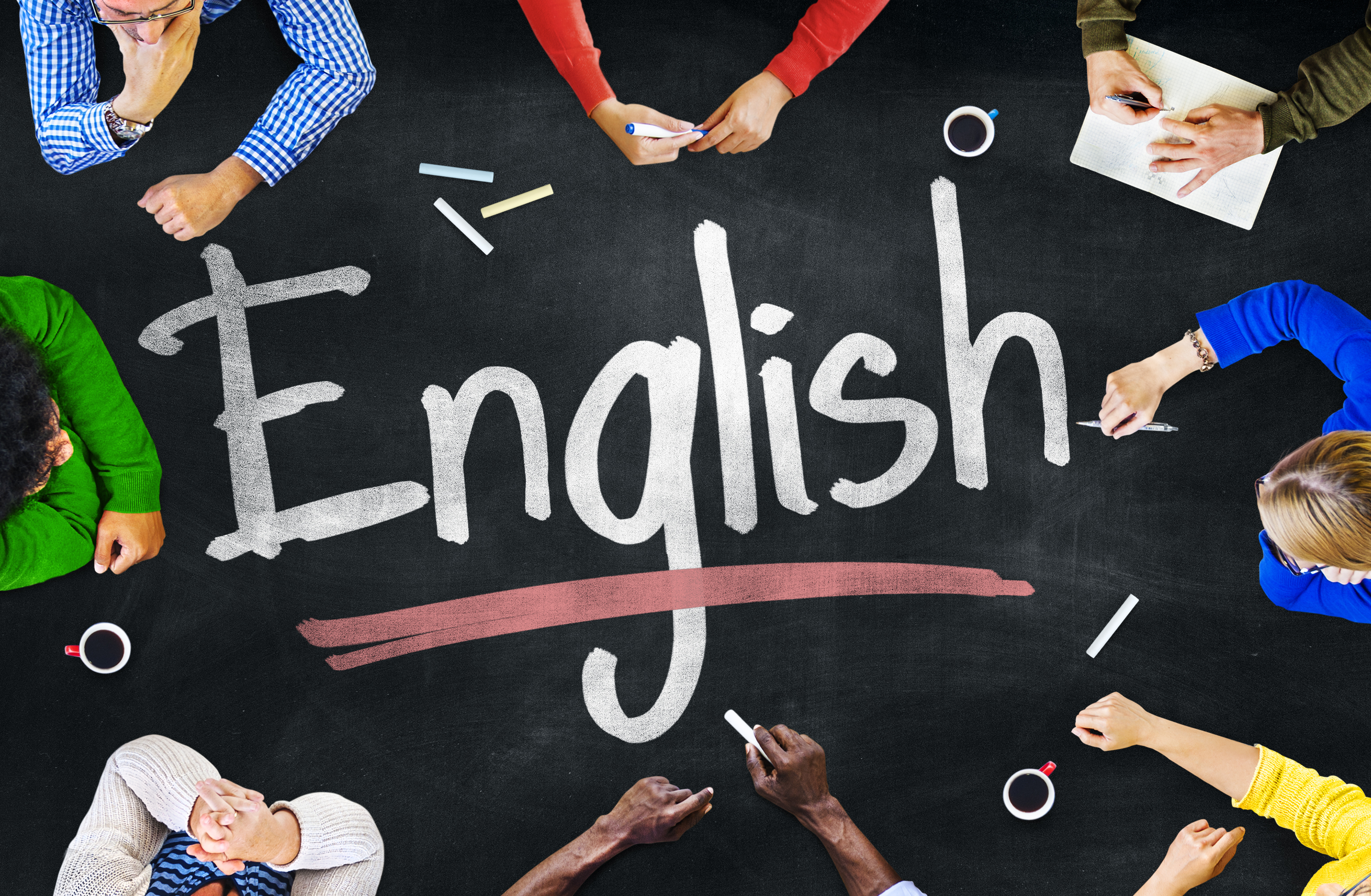 Multiethnic Group of Children and English Concept